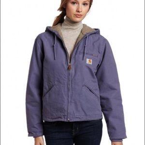 Carhartt sandstone sierra Sherpa lined jacket